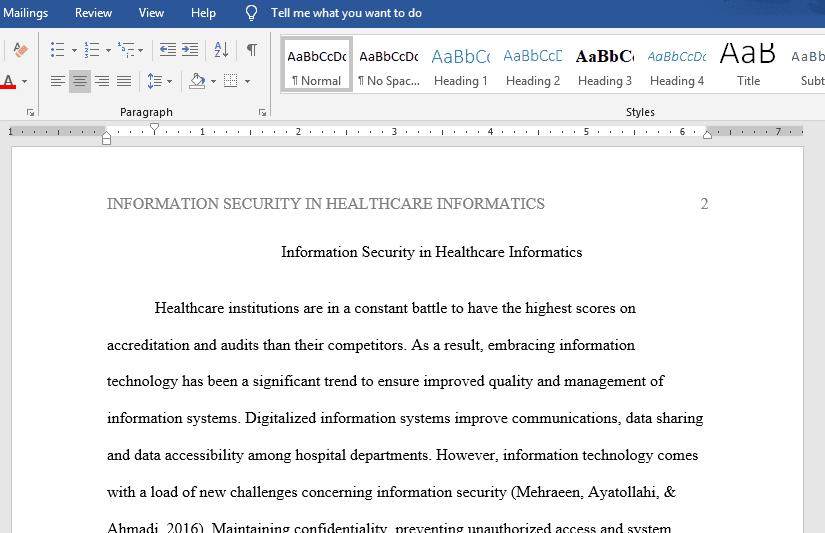 Using Informatics