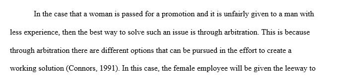 A case of sex discrimination
