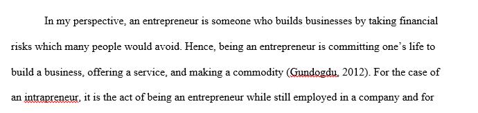 Entrepreneur vs. Intrapreneur Analysis