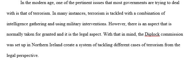 Legal aspects of controlling terrorism