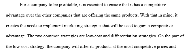 Low cost and differentiation strategy