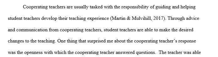 Interview with Cooperating Teacher