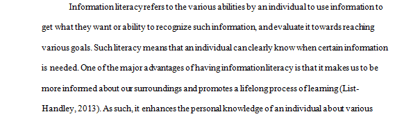 Information Literacy Concept