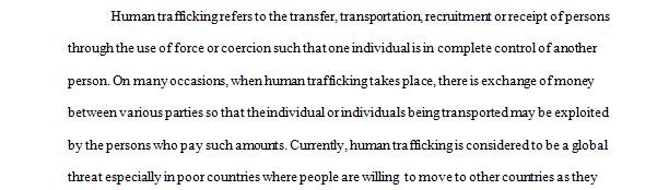 Problem Statement about Human Trafficking