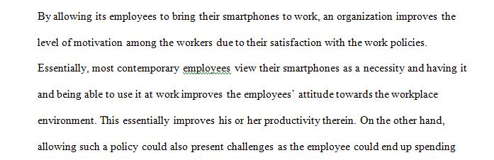 Allowing Smartphones to Work