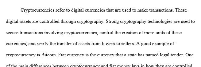 What cryptocurrency is and the main differences with fiat money