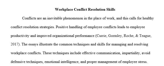 Write conflict resolution essay write a note on process of compilation