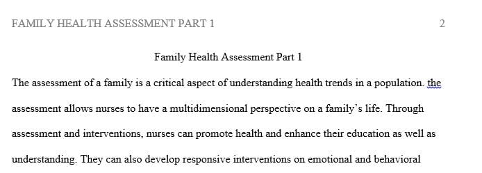 Understanding family structure and style is essential to patient and family care
