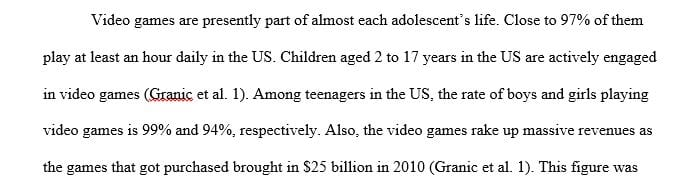 Is video game would affect teenagers How and Why