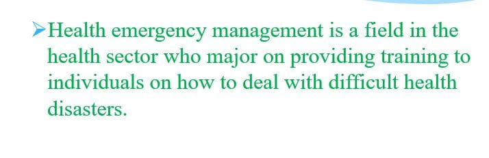 What does it mean to be successful in healthcare emergency management